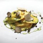 Ravioli de Potiron et Ricotta, Sauce Verte aux Truffes Noires (2)