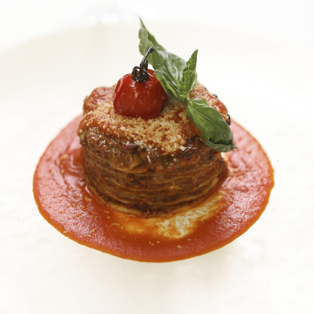 « Lasagne » à la Saucisse Italienne, « Scamorza » et Cèpes